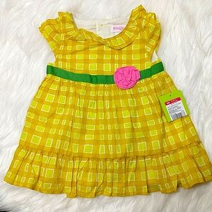 Genuine Baby Girl Two-Piece Yellow Ruffle Dress 6M